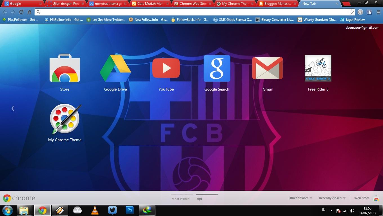 Google themes barcelona - Tema Barcelona Indonesia Untuk Google Chrome